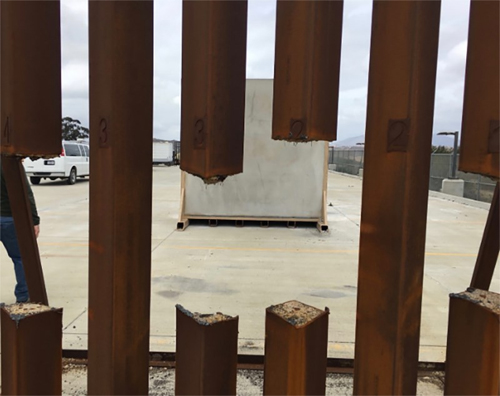 image of steel bars with a giant hole sawed out