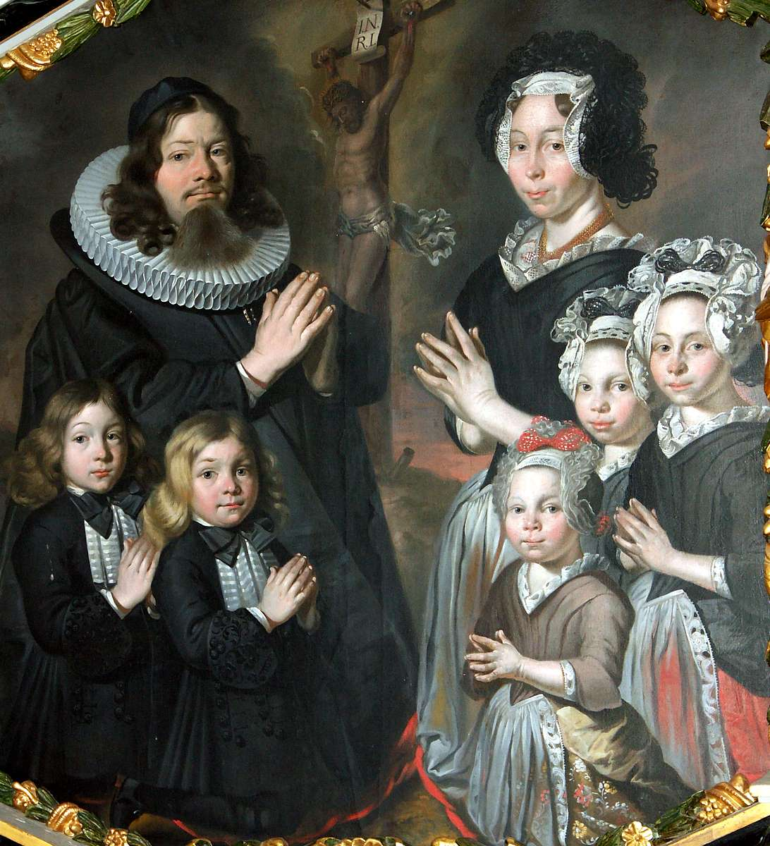Картинки по запросу Laurits Jensen Beder and Anna Cathrine Pedersdatter Dorscheus with their children Beder kirke, Denmark