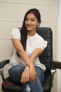 Tollywood Telugu Actress Mouryaani Latest Stills in Ripped Jeans at Intlo Deyyam Nakem Bhayam Movie Interview  0066.JPG