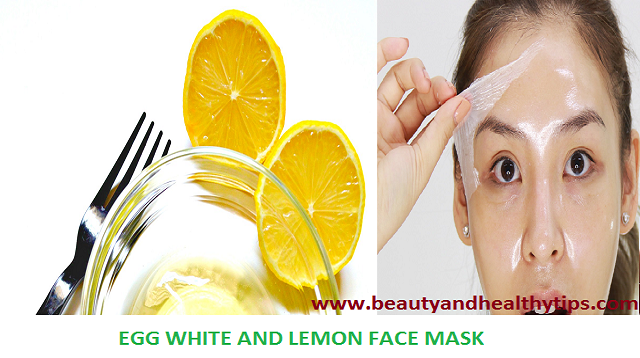 Egg White And Lemon Face Pack