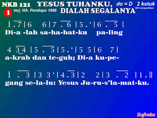 Lirik dan Not NKB 121 Yesus Tuhanku, Dialah Segalanya