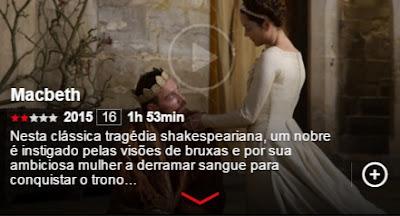 macbeth shakespeare letrologa netflix - 5 obras literárias adaptadas ao cinema e que estão no Netflix