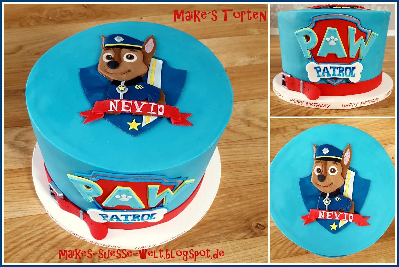 Maike S Susse Welt Paw Patrol Torte