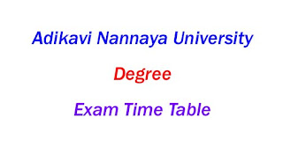 AKNU Degree Exam Time Table 2019-2020