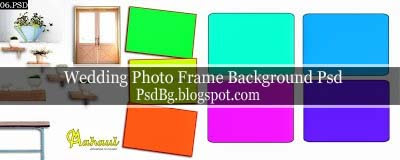 Wedding Photo Frame Background Psd