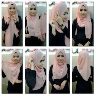 Tutorial Hijab Segitiga Harian