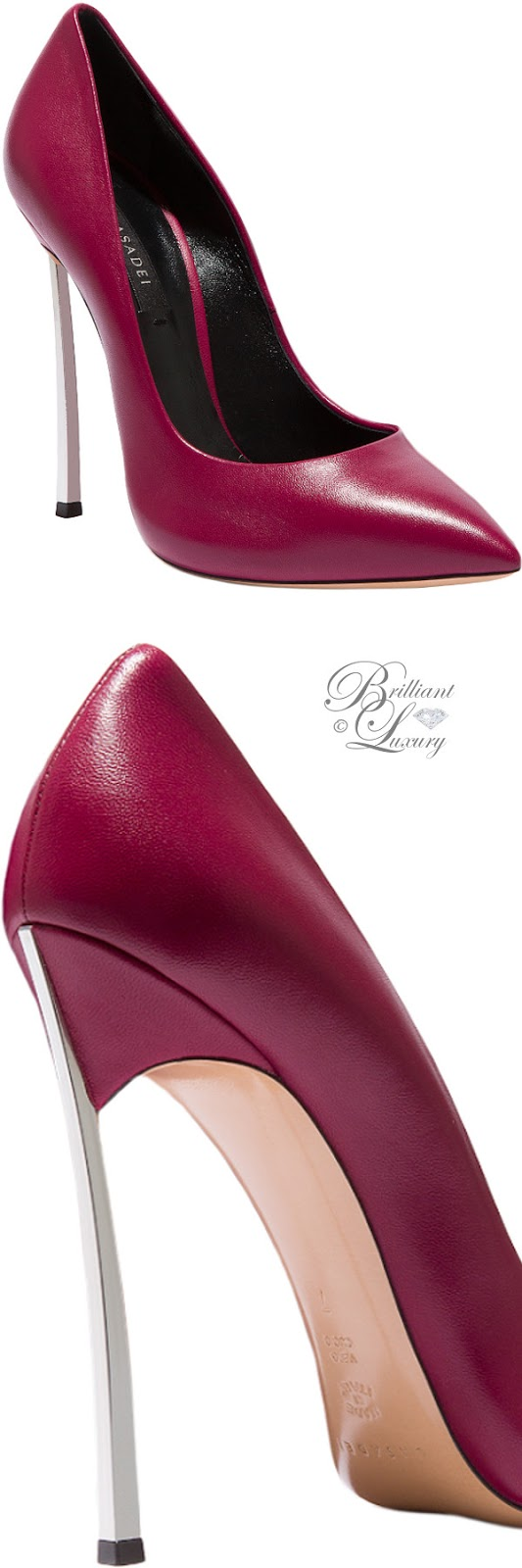 Brilliant Luxury ♦ Fall in ~ Casadei Blade pumps in burgundy