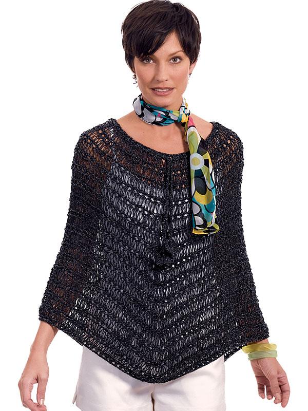 Poncho Esther » Tricotando Crochê