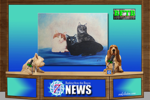 BFTB NETWoof News with a painting of three cats