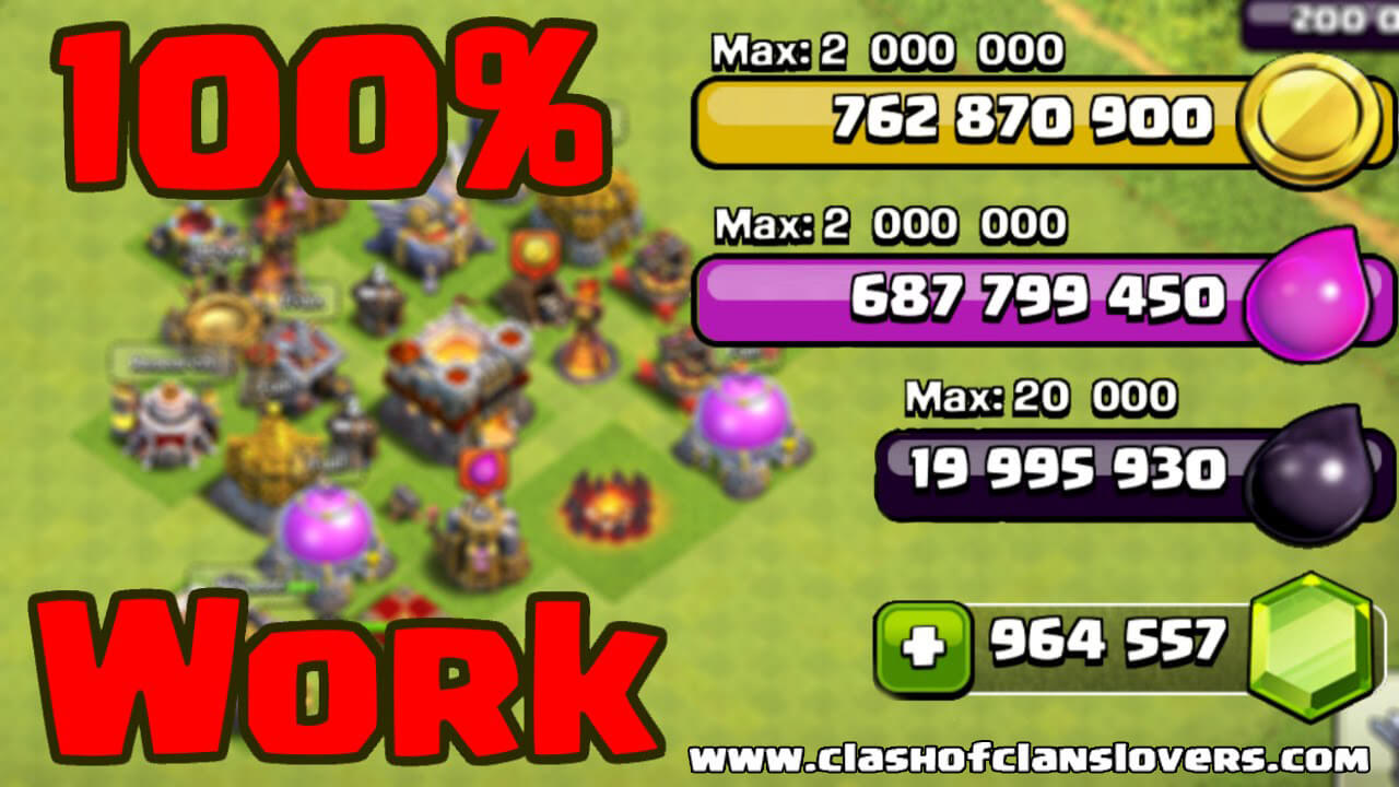 clash of clans modded apk unlimited gems no root
