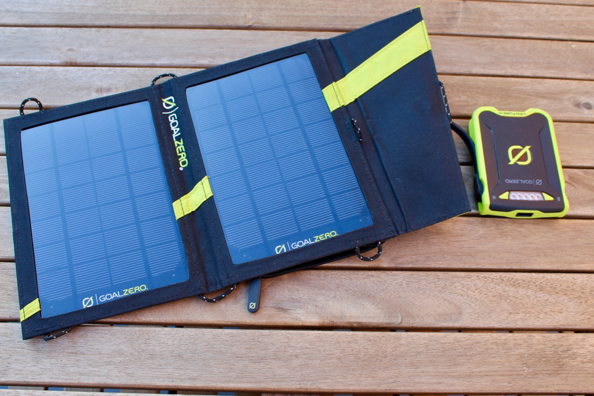 Review Goal Zero Nomad 7 Solar Panel Charger And Venture