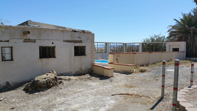 Abandoned Zzyzx Mineral Springs and Health Spa in the Mojave Desert in Southern CA