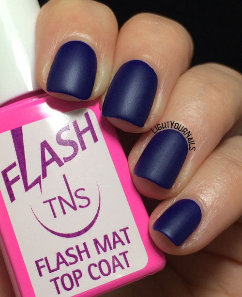 TNS Cosmetics 487 China Blue + Flash mat top coat