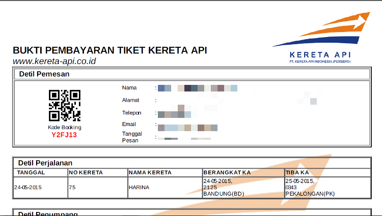 Catatan kecil how to travel by rail in indonesia example of ticket print out screen shoots from kai access or kereta api stopboris Gallery