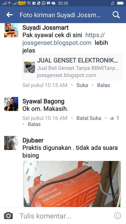 Testimoni User JossGenset