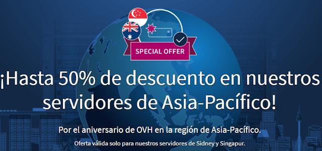 ofertas servidores Asia Pacífico OVH