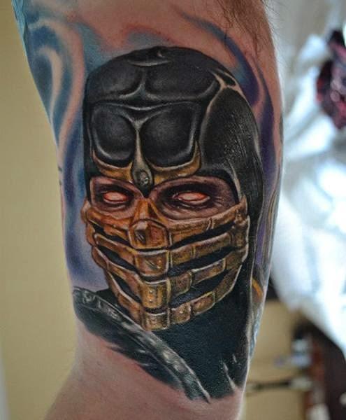 mortal kombat 11 scorpion tattoo