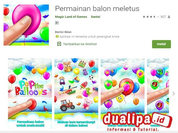 Game Pengetahuan Untuk Anak Terbaik Permainan Balon Meletus