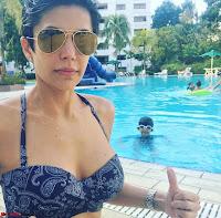 Mandira Bedi Celetes New Year 2018 in Bikini pool side  Exclusive Gallery 002.jpg