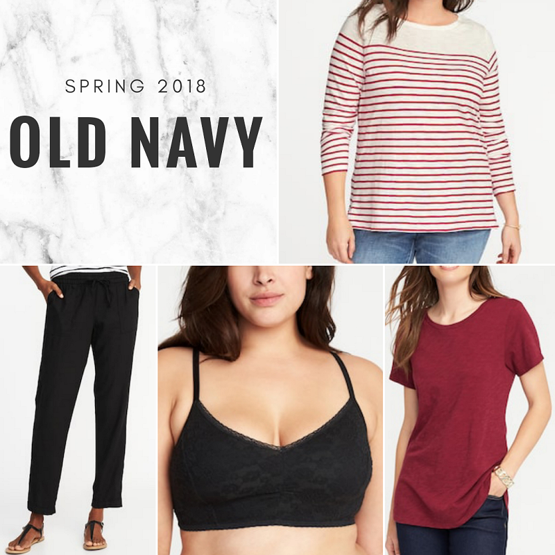 bbloggers, bbloggerca, fashion, style, blogger, plus size, psbloggers, haul, clothing, old navy, spring, 2018, linen, cropped pants, bralette, lace, stripes, mariner tee, slub-knit, tee, t-shirt, shopping