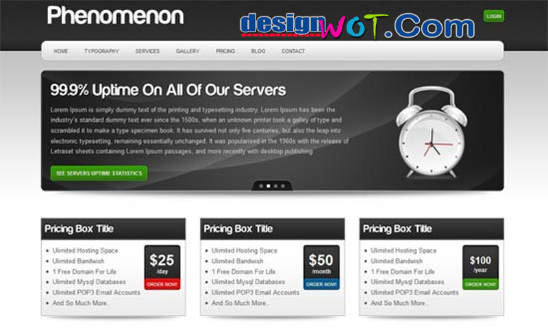 Phenomenon - Premium Hosting WordPress Theme