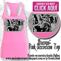 Ancient Necropsy Pink Sleeve Top