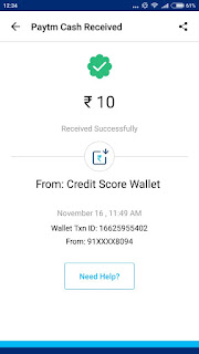 Credit Score Wallet Payment Proof: