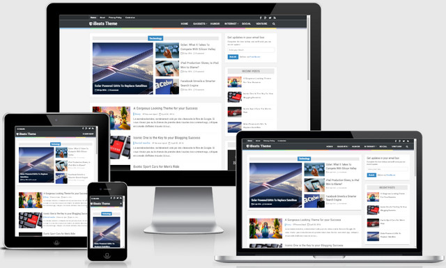 iBeeats Responsive Blogger Templates
