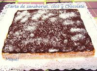 Tarta de zanahorias, coco y chocolate