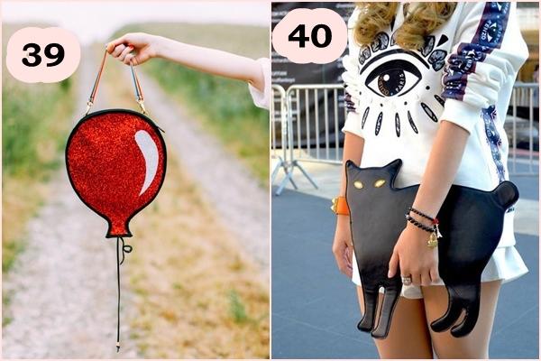 Bolsa criativa Balão e gatinho fofo