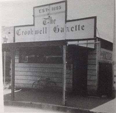 The premises of The Crookwell Gazette in 1949 when Jim took over the paper with Jack and Arthur Bradley.