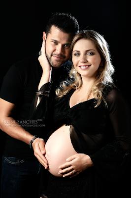 Marco da dupla Marco e Belutti e sua esposa Lu