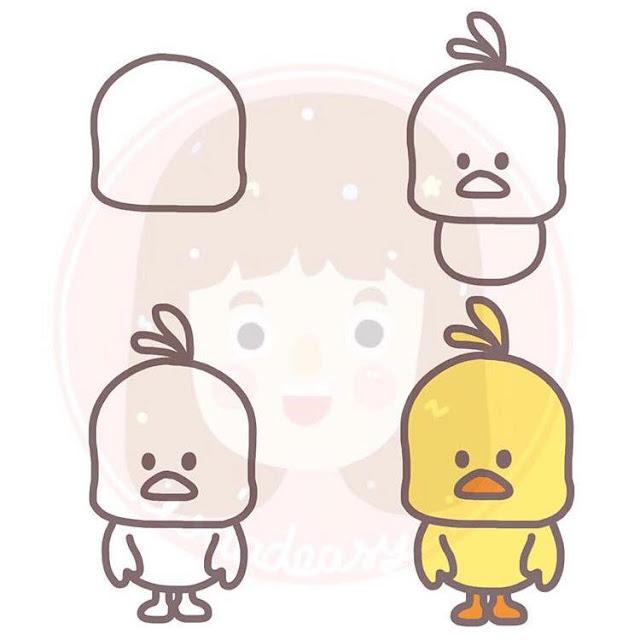 Cara menggambar burung untuk anak-anak 2
