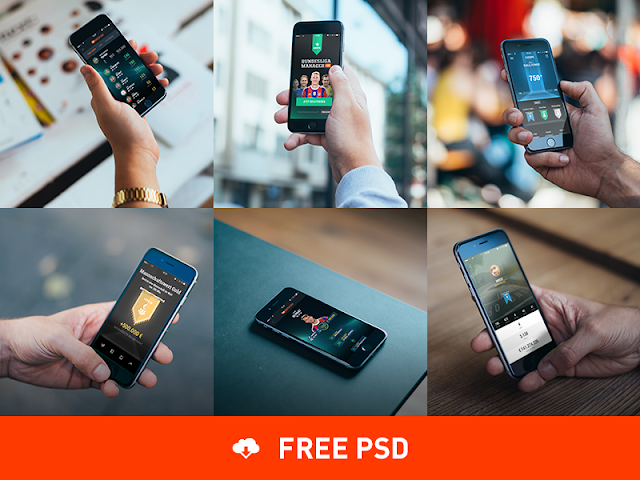 Photorealistic iPhone 6 Mockups PSD