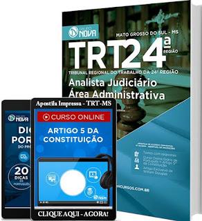 Apostila concurso TRT-MS 24ª Região 2016-2017 - Técnico Judiciário.