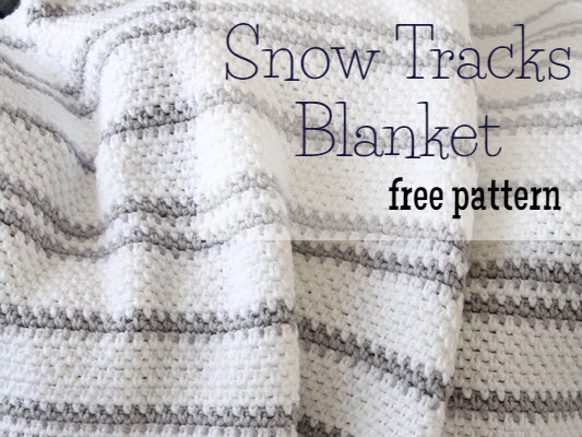{Free Crochet Pattern} Snow Tracks Blanket
