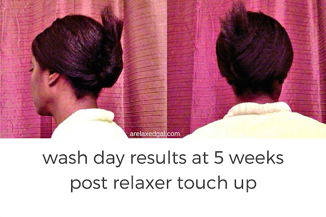 My wash day experience at 5 weeks post 11/11/14 relaxer touch up. | arelaxedgal.com