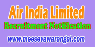 Air India Limited Recruitment Notification 2016