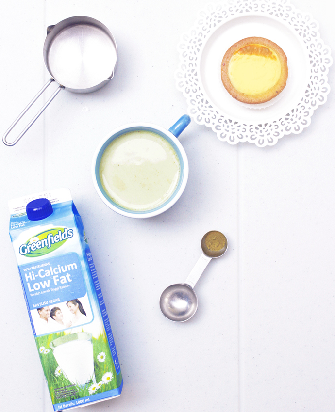 Make your own green tea latte at home