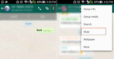 WhatsApp Mute, How to Mute Individual Contact or Group in the WhatsApp