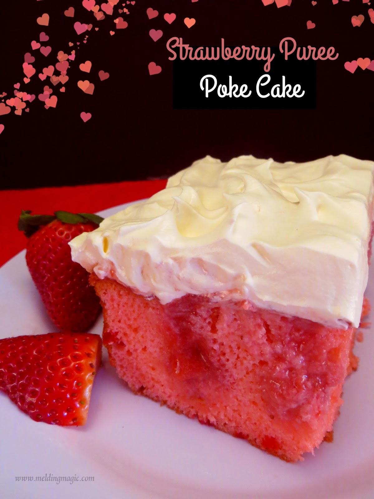 Strawberry Poke Cake With Frozen Strawberries