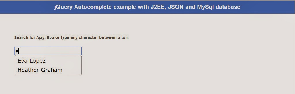jQuery autocomplete ajax tutorial with MySql datasource and