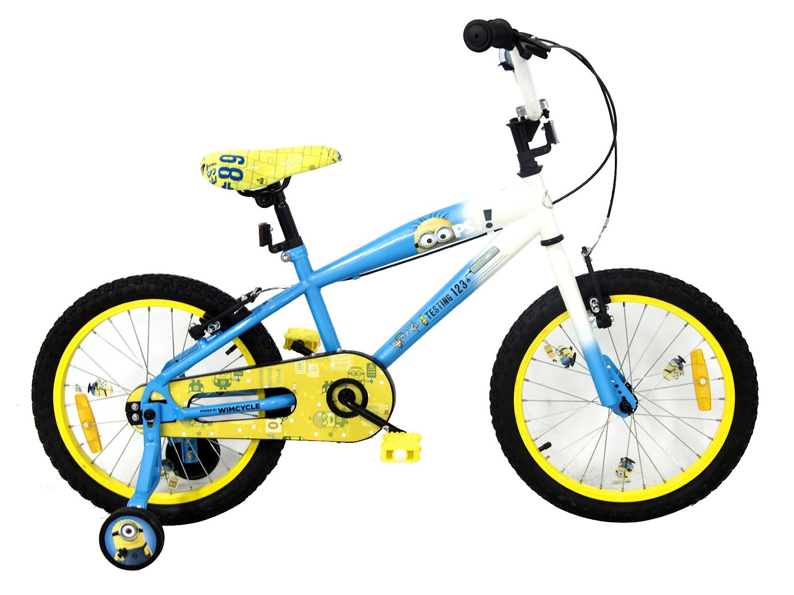 Sepeda Anak LakiLaki Wimcycle Minions 18 Inci Lisensi