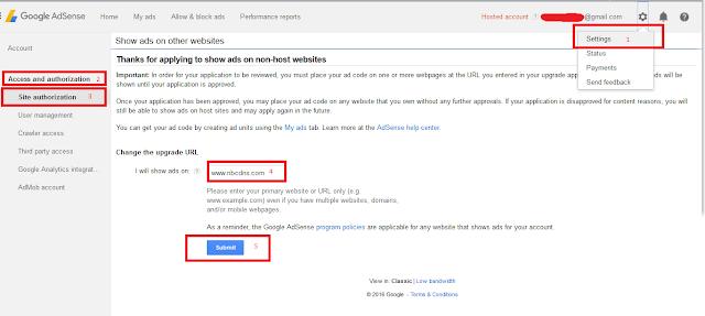 Cara Paling Mudah Untuk Upgrade Akun Google Adsense Hosted Ke Non Hosted