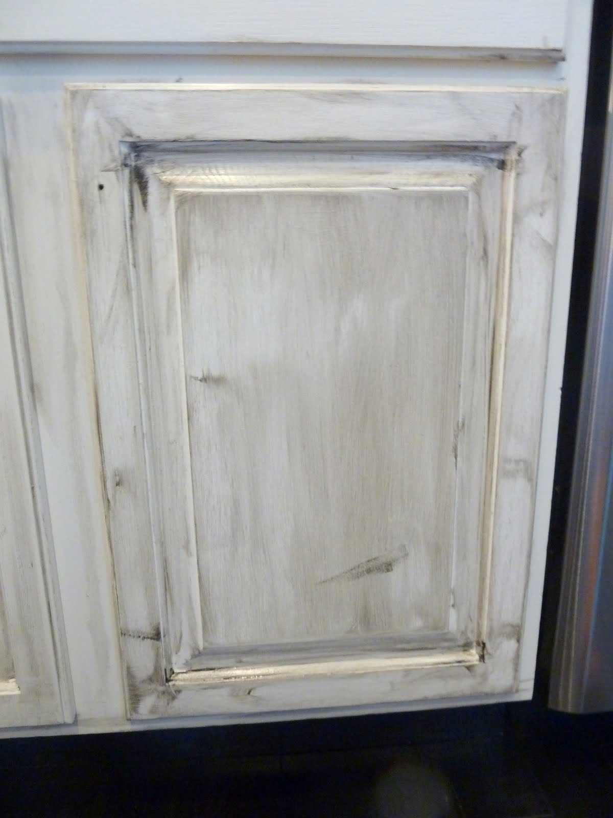 Distressed Kitchen Cabinets How To Distress Your Kitchen Cabinets - Gray glazed cabinets