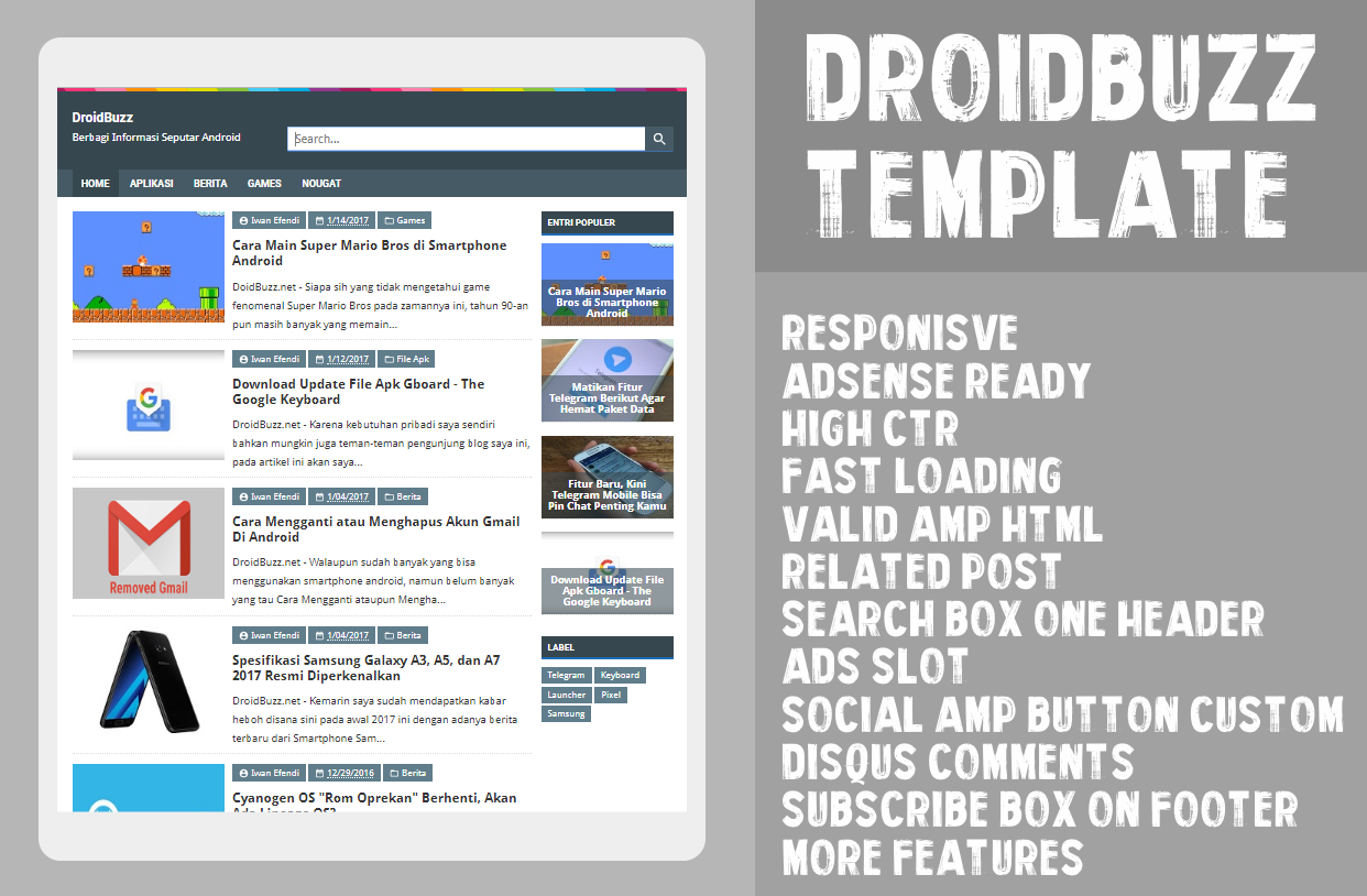 Amazing Blogger Template Free Download Contemporary - Examples ...