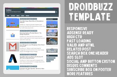 DroidBuzz Template Blogger Free Download