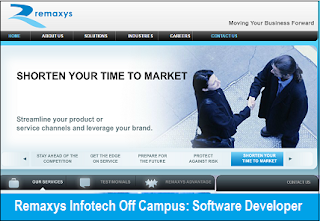 Remaxys Infotech Off Campus Drive for Software Developer
