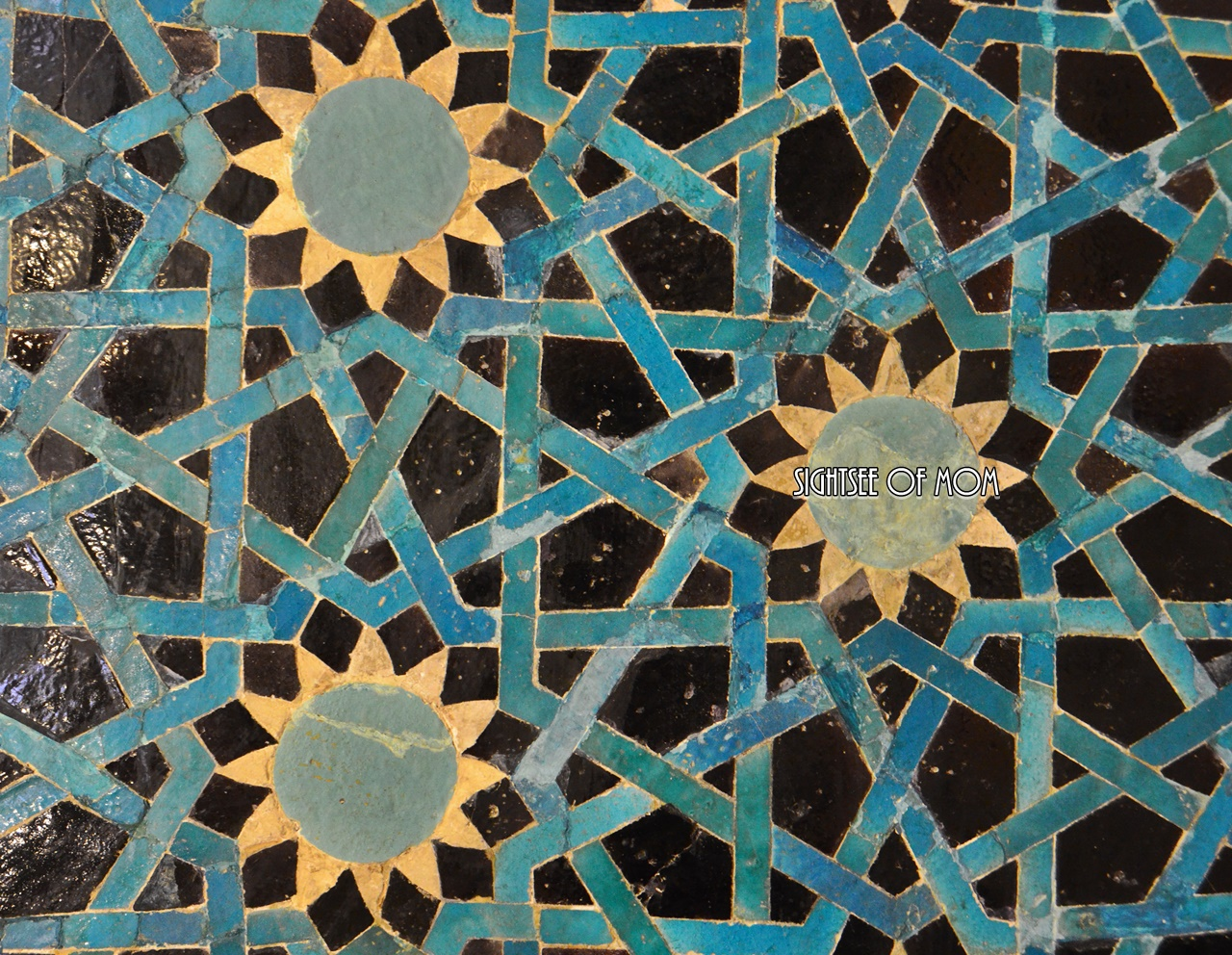 The color and the geometrical shapes are very unique at this tile which is from 13th century of Anatolian Seljuk Period
