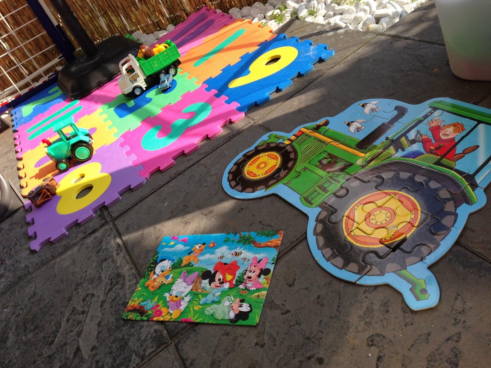 Puzzle mit Traktor